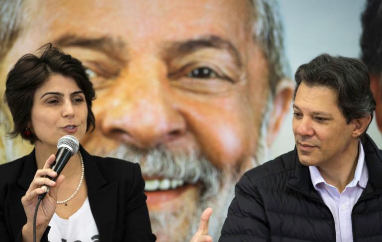 Manuela D´Avila y Fernando Haddad