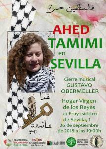 Hoy 26 de septiembre a las 19:00, Tamimi ofrecerá una conferencia en Sevilla.