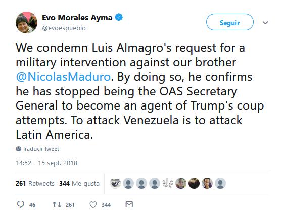 Venezuela denunciará al secretario general de la OEA ante la ONU