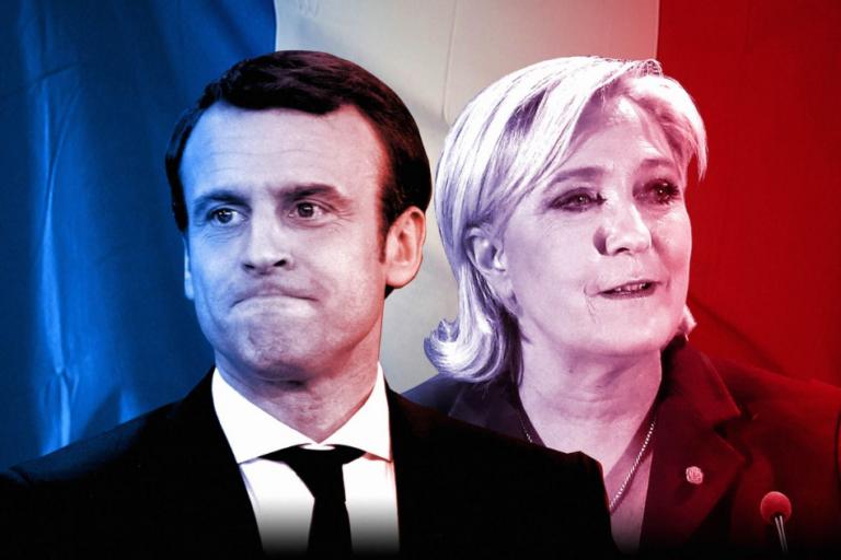 Partidos de Macron y Le Pen prácticamente empatados en el sondeo francés
