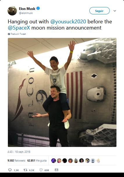 SpaceX escucha a Sagan: enviarán al espacio (probablemente) a un poeta
