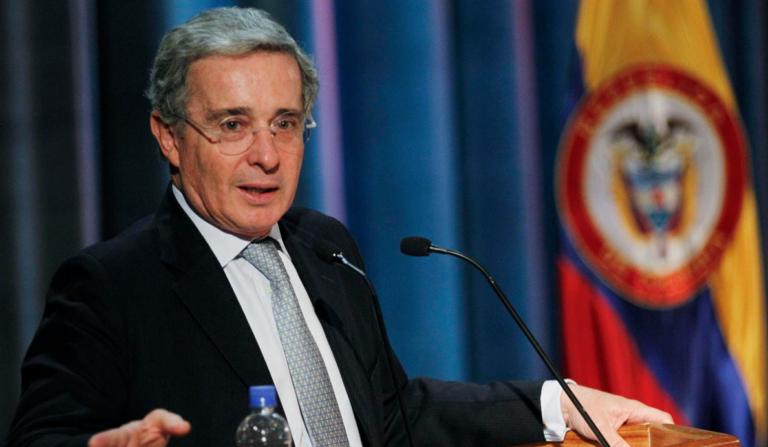 El Presidente Álvaro Uribe Vélez durante su intervención en la Casa de Nariño. FOTOS: SERVICIO DE NOTICIAS DEL ESTADO (SNE)
