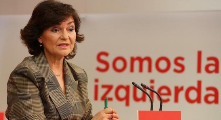 """Carmen Calvo: """"la libertad de expresión no lo acoge todo"""""""