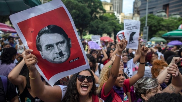 Manifestaciones multidudinarias contra Jair Bolsonaro en Brasil