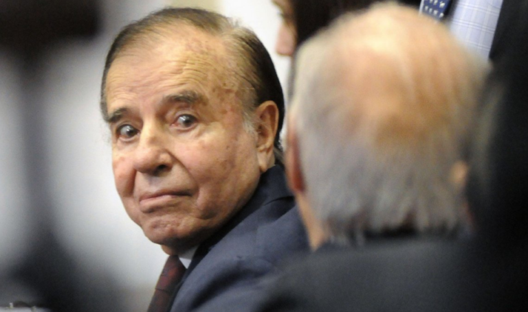 Menem ha sido absuelto por la acusación de contrabando de armas