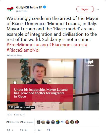 Italia: indigación tras la detención del alcalde que ayudó a refugiados