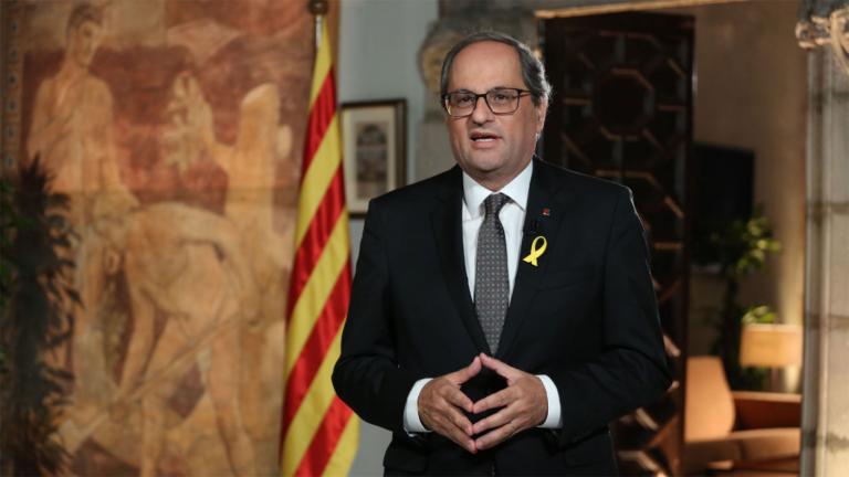 Torra quiere la mediación de Trump y del Papa en Cataluña