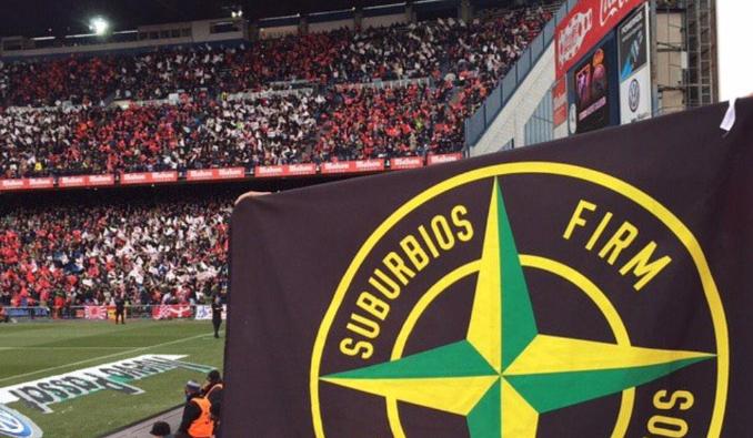 Ultras del Atlético detenidos en Brujas por hacer el saludo nazi