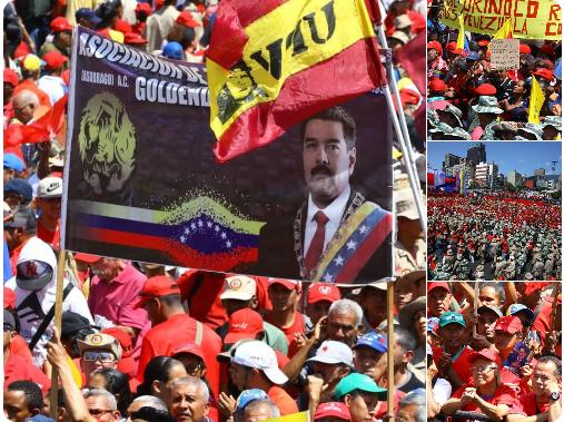 El chavismo sale a las calles de Caracas en apoyo a Nicolás Maduro